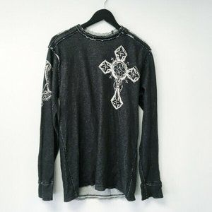 Affliction Graphic Tee Cross Wings T Shirt 2 Sided